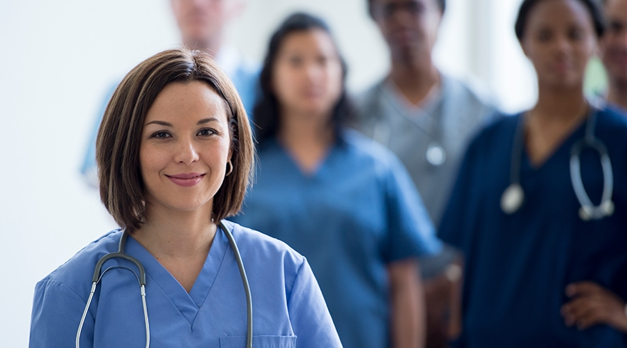 Proactive Recruiting, Nurse retention, group of nurses standing together